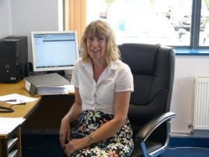 Denise in the office